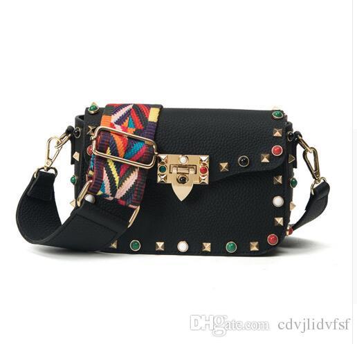 cd74adb3ff77 2018 Luxury Handbags Women Bags Designer Crossbody Bags Fashion Stud  Shoulder Bags Famous Brand Women Messenger Bag Handbag Wholesale Womens Bags  From ...