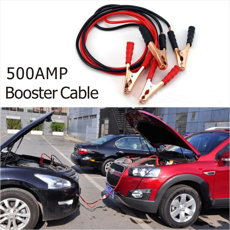 New Emergency Battery Cables Car Auto Booster Cable Jumper Wire 2 Meters  Length Booster 12V 500A