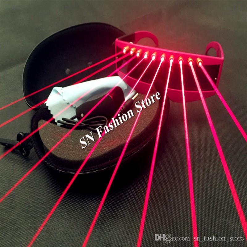 T3 Lazer kırmızı ışık gözlük dj disko parti bar gece kulübü giyer podyum balo salonu dans kostümleri sahne sahne lazer suit tedarik podyum kulübü dj