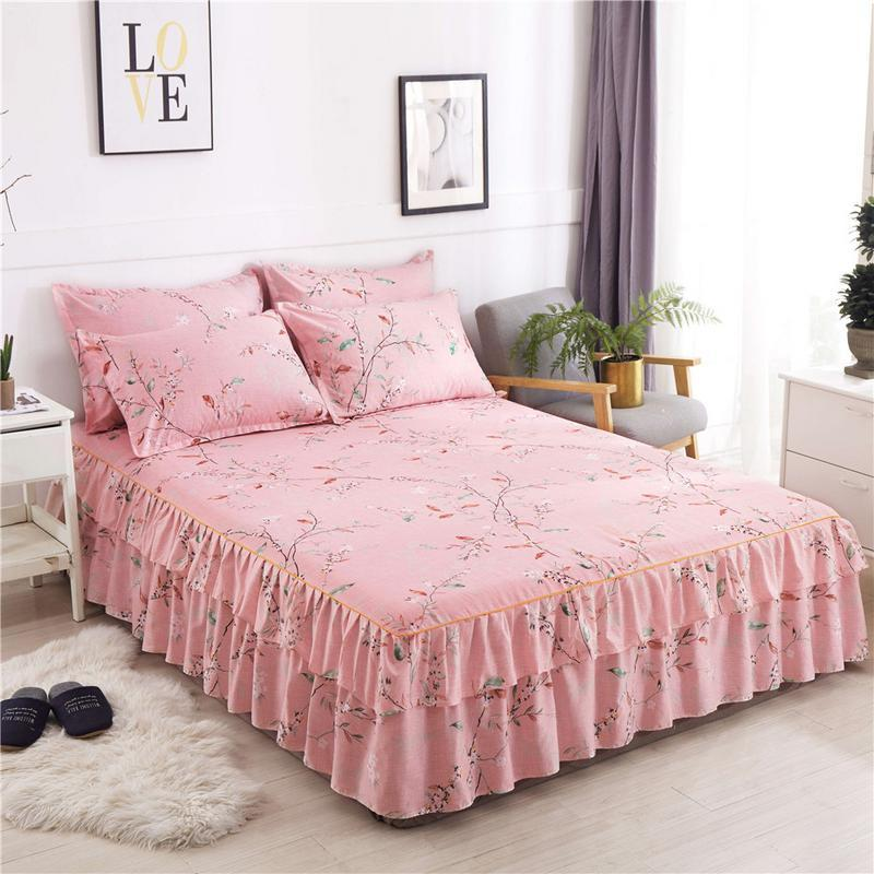 New Sanding Thickened Bedsheet Dual Layers Bed Cover Fitted Sheet
