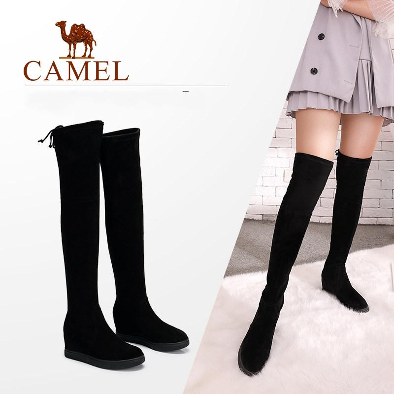 aefa265c3dbf CAMEL Over The Knee High Winter Thigh High Boots Women Shoes 2018 Fashion  Warm Platform Heel Antiskid Plush Long Boots Brown Boots Winter Boots For  Women ...