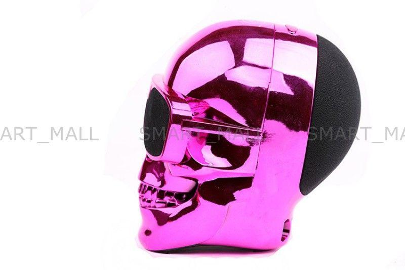 New Portable Skull Bluetooth Speakers Skull Head Ghost Wireless Stereo Subwoofer Mega Bass 3D Stereo Hand-free Audio Player Mini Speaker