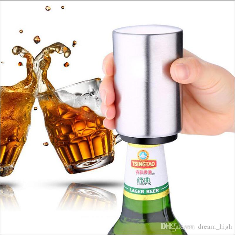 Stainless Steel Wine Beer Opener Air Pressure Opener Easily Press Bar Accessories For Bartender Gift Novelty Item Kitchen,dining & Bar
