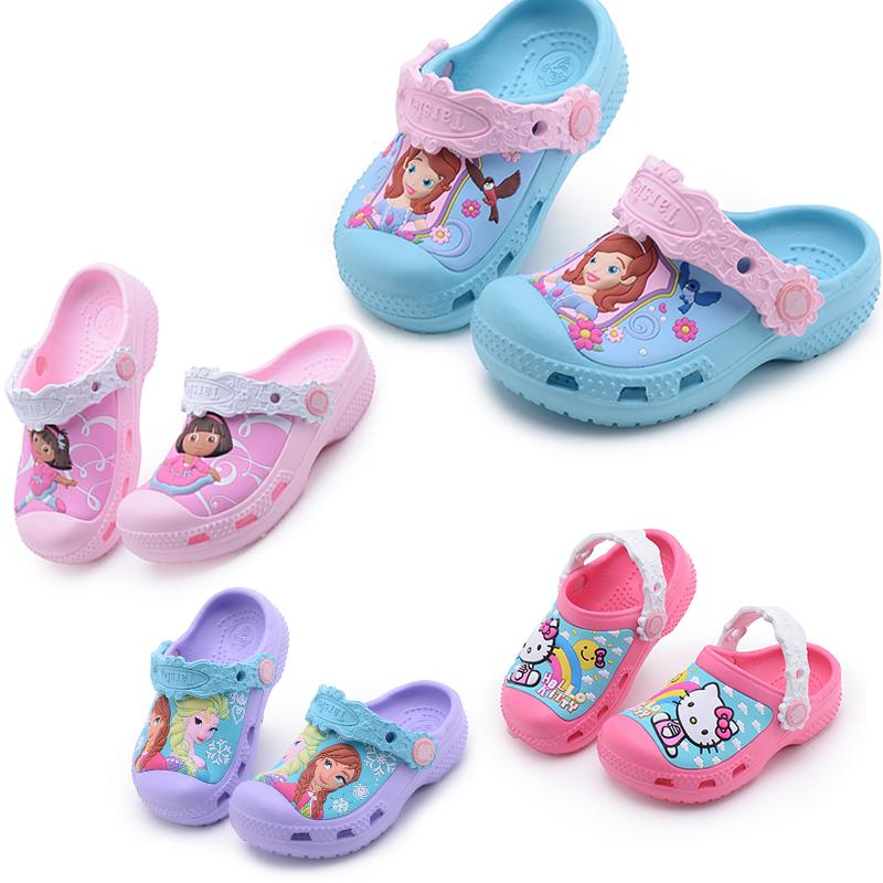 6735708f7a41f Kids Slippers Girls slippers Cute Cartoon Charms Children Casual non-slip  Hello Kitty Baby Girl Swimming Shoe
