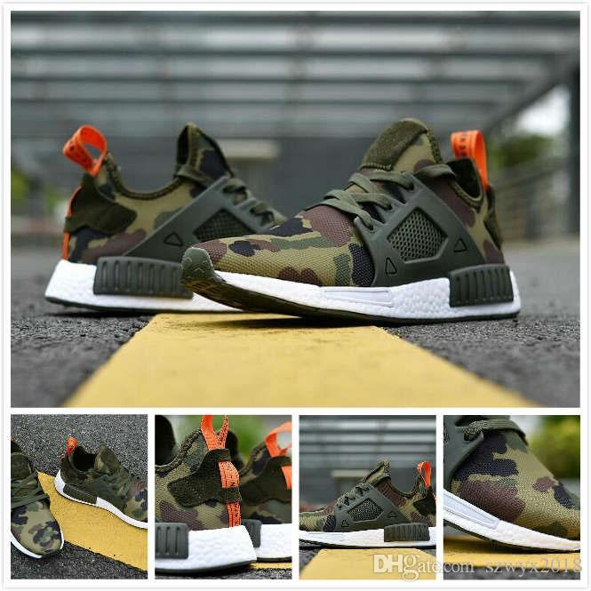 9f2c1795eedb8 2019 2019 NMD XR1 Running Shoes Mastermind Japan Skull Fall Olive ...