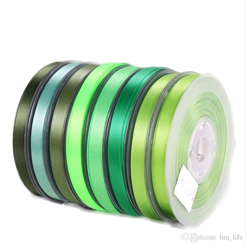 Double Sided Grosgrain Ribbon Ribbed Petersham Satin 50mm 2 Inch 25 100 Meters Yard Roll Full Reel Green Wholesale