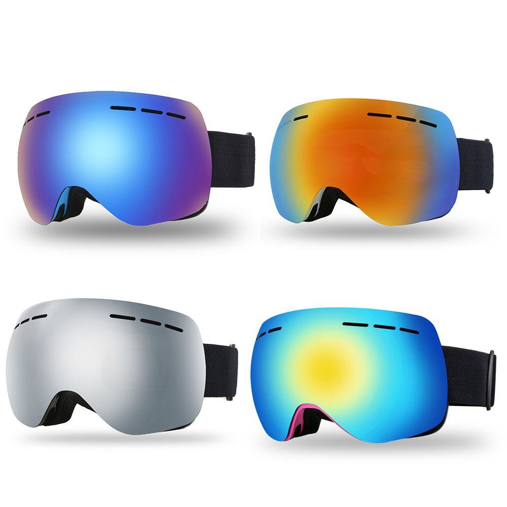 7cf2bc3a2a Compre Gafas De Esquí Sin Marco Para Adultos Deportes De Nieve En Invierno  Gafas De Snowboard Antivaho Protección UV Lente Doble Para Esquiar En  Motonieve A ...