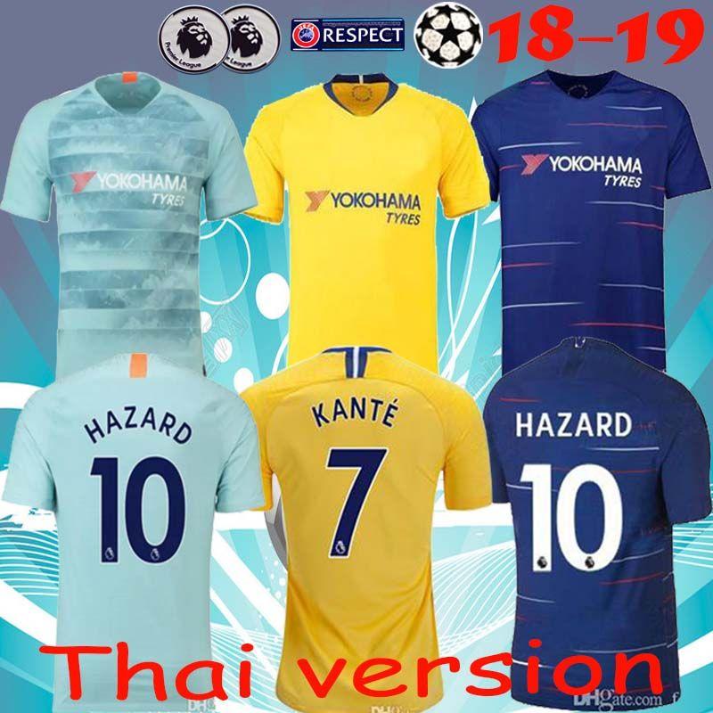 wholesale dealer bcffc 19251 2019 Thailand HAZARD chelsea home away third soccer jersey 18 19 KOVACIC  GIROUD KANTE Camiseta football kit shirt