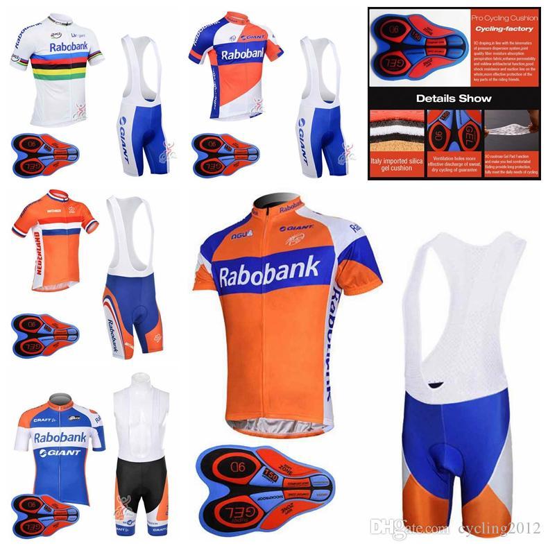 2018 Pro Team RABOBANK Cycling Jerseys Short Sleeve Sets Mens Ropa Ciclismo  Summer Bicycle Clothing Quick Dry MTB Bike Bib Shorts 92723J Mountain Bike  Gear ... b04c734bf