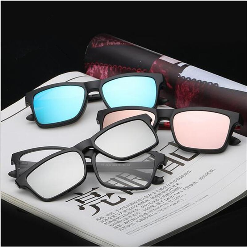3004732a64 2019 2 In 1 Magnetic Clip On Polarized Sunglasses Opical Glasses Frame  Prescription Eyeglasses Spectacles Brand Designer Women Men From  Lbdwatches