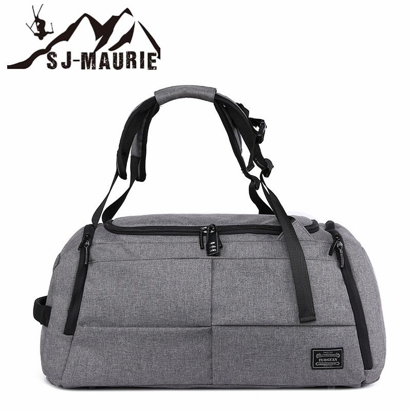 SJ-MAURIE Stylish Terylene Men Luggage Bag Sports Fitness Gym Bag ... 1af8269e1ab4b