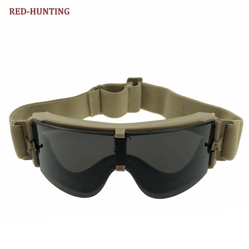 Ciondoli Low Price Good Quality Sport Goggles Military Activities Eyewear Mountain Bike Sunglasses Men Windproof Desert Glasses 3 Lens