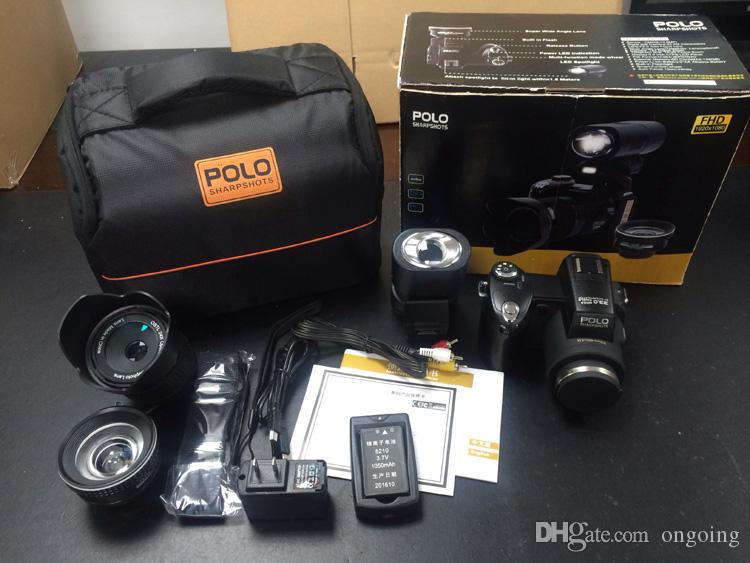 New POLO D7100/D7200/D7300 digital camera 33MP FULL HD1080P 24X optical zoom Auto focus Professional Camcorder