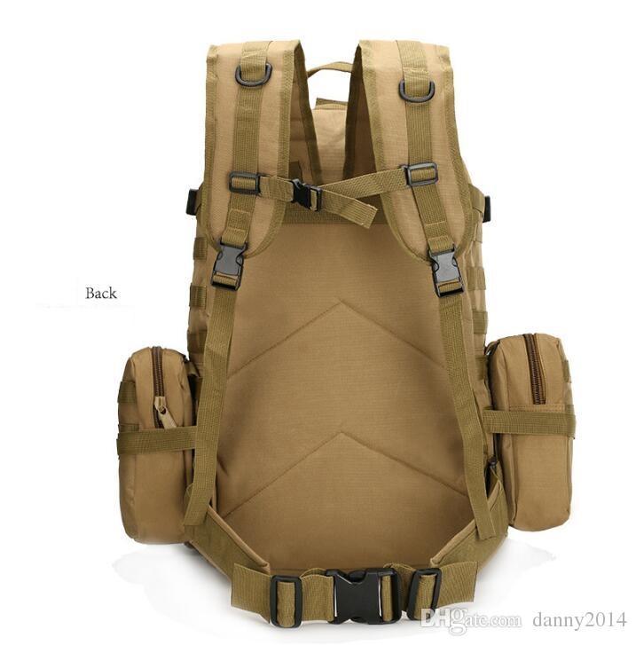 Tactical Schultertaschen Outdoor-Sport Radfahren Wandern Trekkingrucksäcke mit großer Kapazität Tactical Armee Rucksack Multi-Funktions-Kombination Taschen