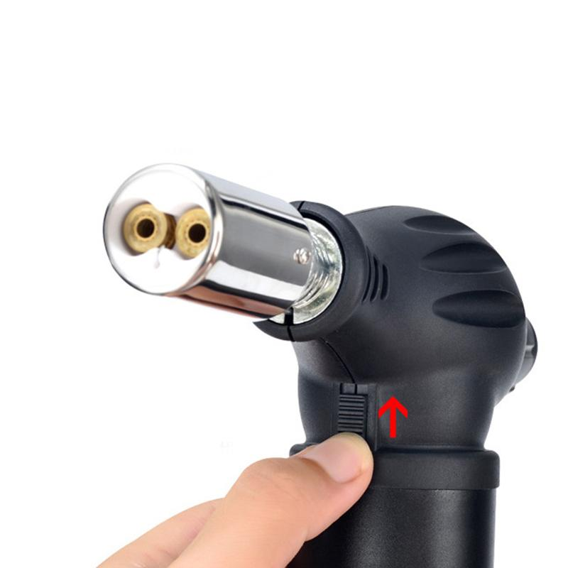 Hot selling 1300 degree high temperature jet lighter torch outdoor lighter kitchen adjustable flame gun lighter camping bbq igniter