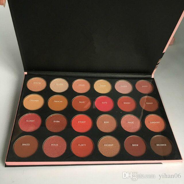 Top quality with best price 24G Eyeshadow Palette Eye Shadow Earth Color Lady Nude Eyeshadow Palette DHL