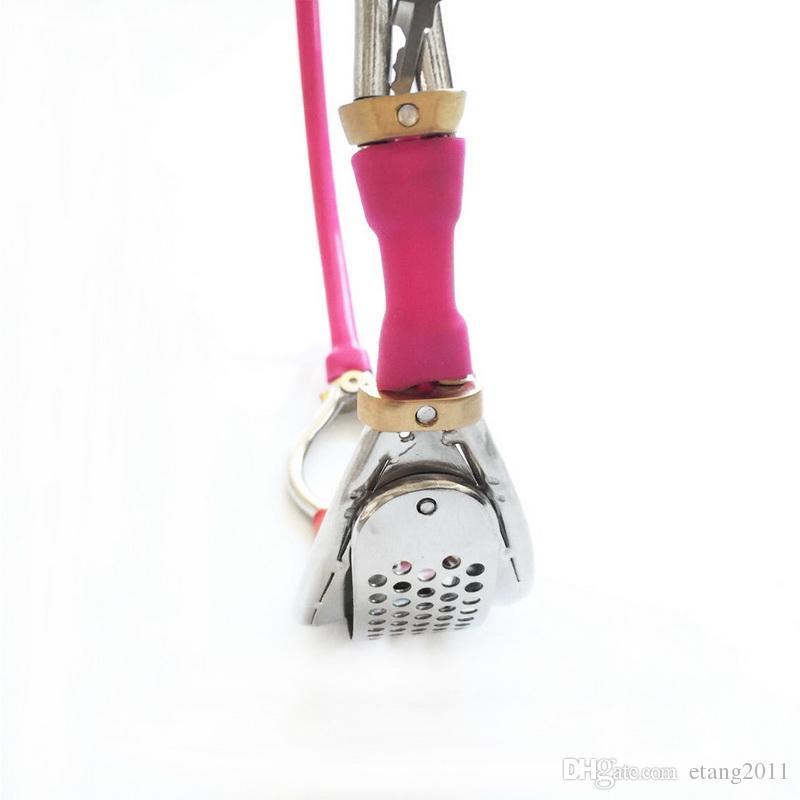 أحدث تصميم غير مرئية الإناث الكامل للتعديل المقاوم للصدأ حزام العفة الجهاز مع التبرز هول عبودية bdsm النساء الجنس لعبة الكبار 321