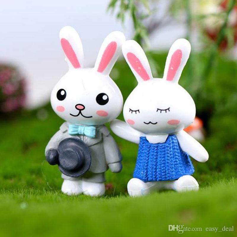 المشهد الصغير الحلي مصغرة أرنب الحيوان مصغرة الجنية حديقة الديكور دمية منزل تررم ديكور حلية لعبة F20172973