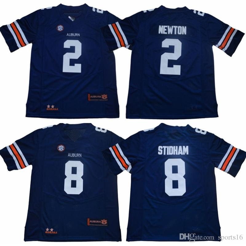 7a7ce7dd86b 2019 NCAA Auburn Tigers College Jerseys 8 Jarrett Stidham 2 Cam Newton Navy  Blue Stitched Football Shirts