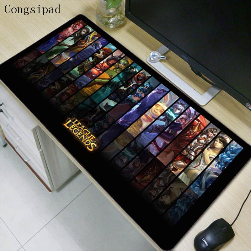 Congsipad Large Gaming Mouse Pad Locking Edge Mat For Laptop Computer Keyboard Desk Dota 2 Lol Csgo Mousepad Wrist Rest
