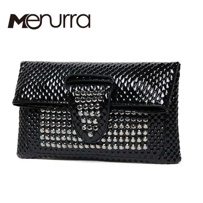 932b67423c36 White Envelope Evening Clutch Bag Crocodile Pattern Leather Genuine ...