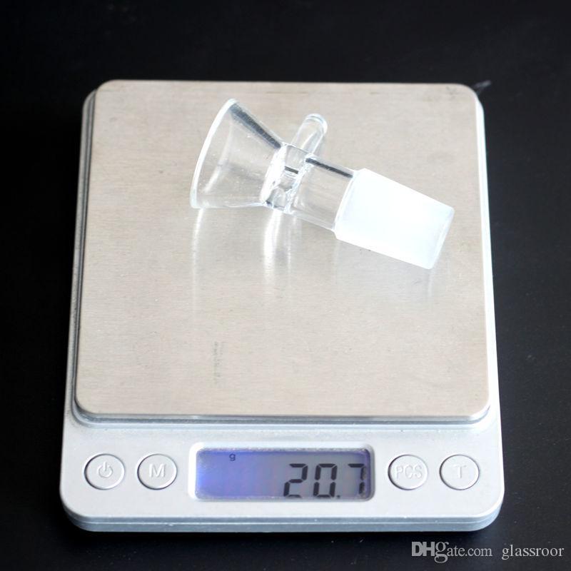 Glasschüssel Tabak und Kraut Dry Bowl Slide für Glas Bong und Rohre 14mm 18mm Male Joint Glasschüssel mit Griff