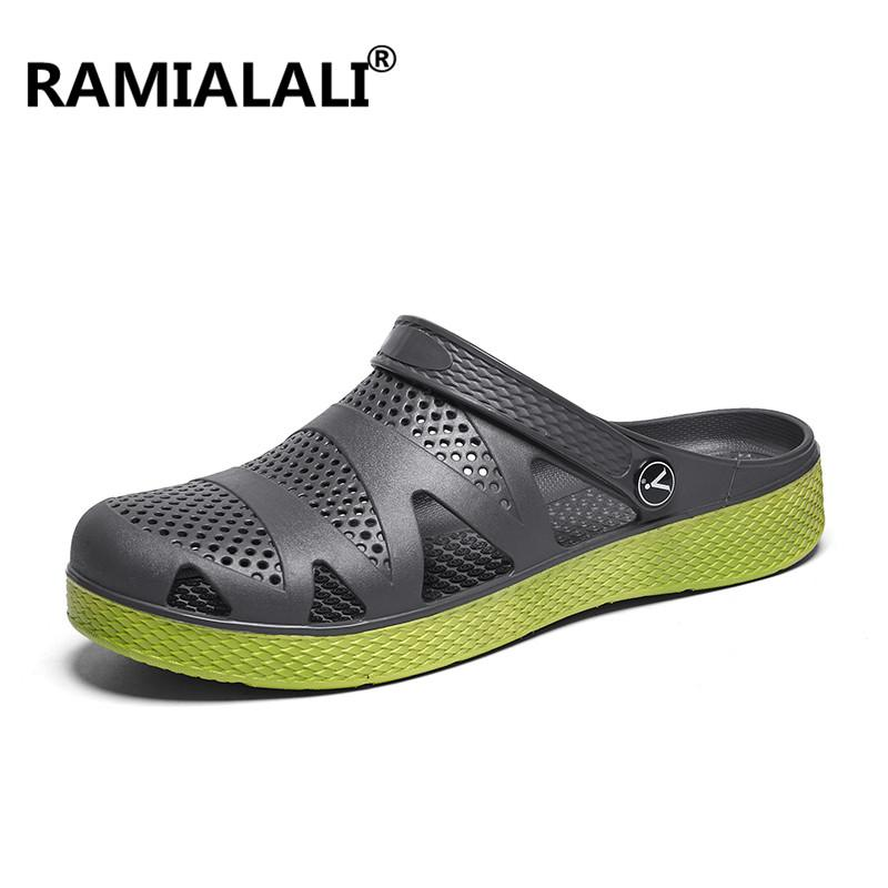 7e919c952f83f Ramialali Summer Outdoor Beach Sandals Shoes Rubber Men Sandals Men Slip On  Garden Clogs Casual Water Slippers Shoes Purple Shoes Ladies Footwear From  ...