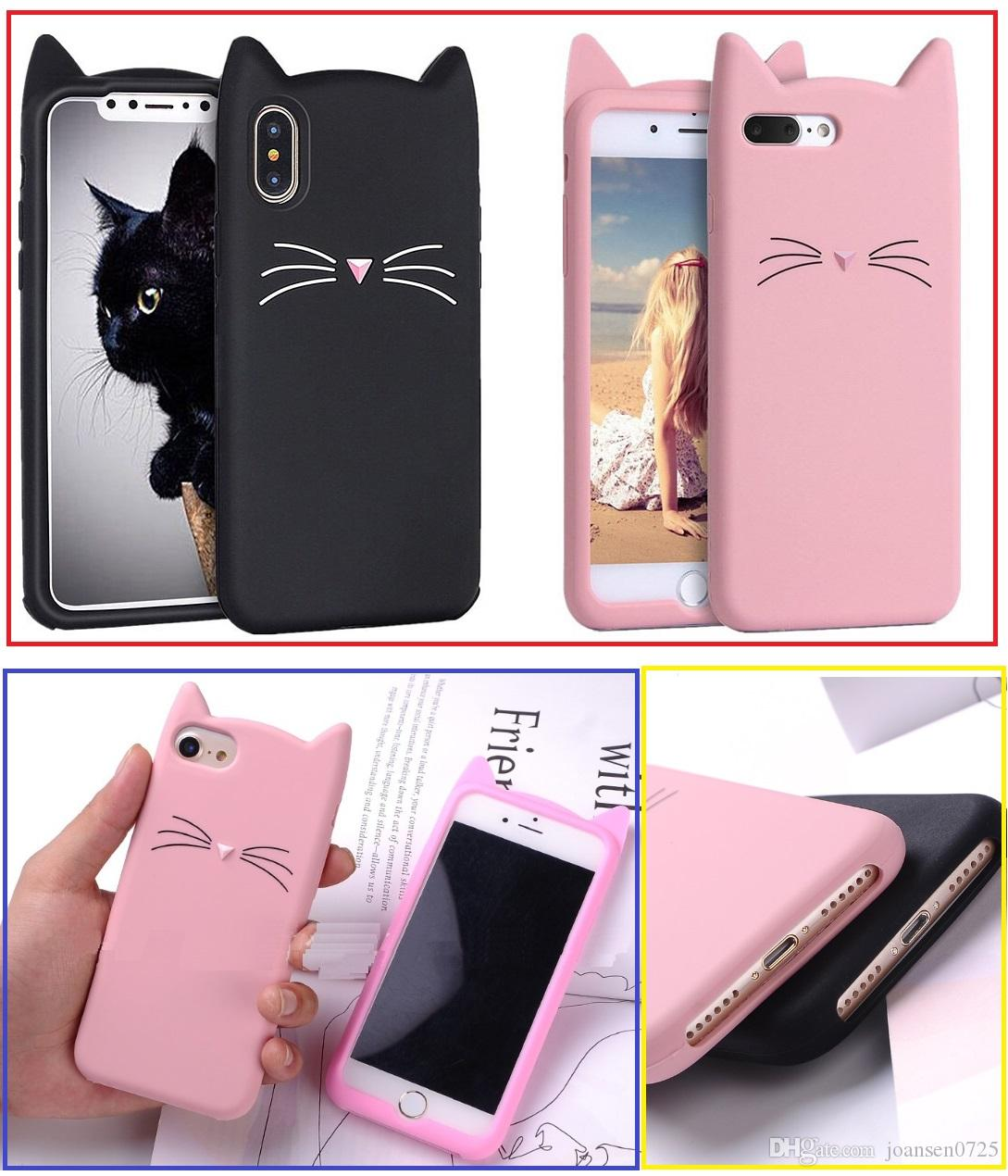 472a060f8da For Iphone 5 6 Phone Cases Shell 3D Bearded Cat Silicone Soft Cover For  IPhone 7 I7 Bag Funda Cell Phones Covers Design Cell Phone Case From  Joansen0725, ...