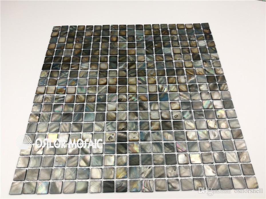 Coquille d'eau douce chinoise carreaux de mosaïque de nacre pour intérieur décoration de la maison cuisine et salle de bains carreaux de mur 15x15mm mop0503