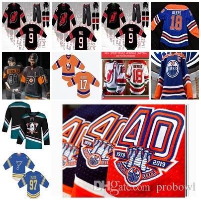 new styles 4e78d 7b6fe Men Custom 2019 Third New York Islanders St.Louis Blues Mighty Ducks  Philadelphia Flyers Edmonton Oilers Alternate Uniform Hockey Jersey
