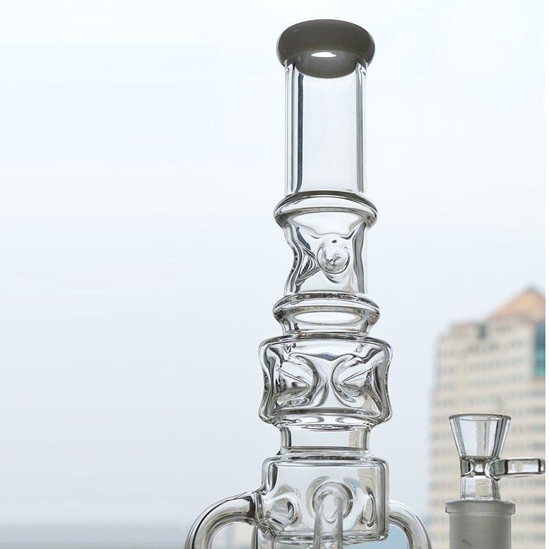 Big Glass Wasser Bong Recycler Papa Rigs 4 Rakete Honeycomb Perc Ashcatcher Sprudelöl Rig 18-Zoll-Eisfänger Shisha-Becher Bong Free Banger