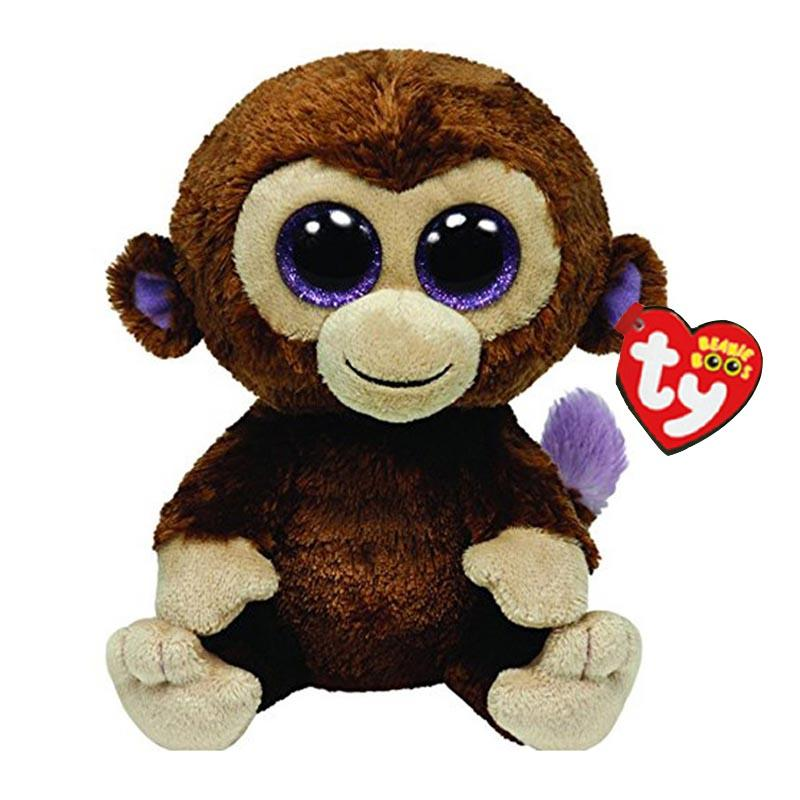 a96f5eee278 Ty Beanie Boos Stuffed   Plush Animals Brown Monkey Toy Doll With ...