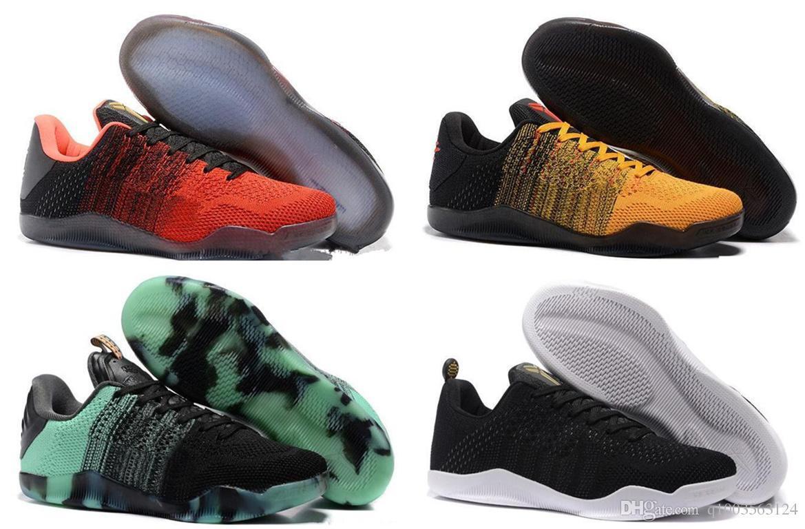 hot sale online d5087 9f3ab Acheter Haute Qualité Hommes Kobe 11 EM Mamba Chaussures De Jour Kobe XI  Faible Elite Sport Sneakers Bottes Noir Or Dropshipping De  17.19 Du  Gaohua66 ...