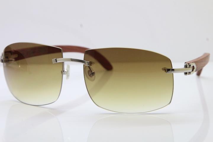 2019 Sun glasses Larger Rimless Wood Sunglasses Metal designer Carved Wood 4189705 Sunglasses Unisex Larger Sunglasses
