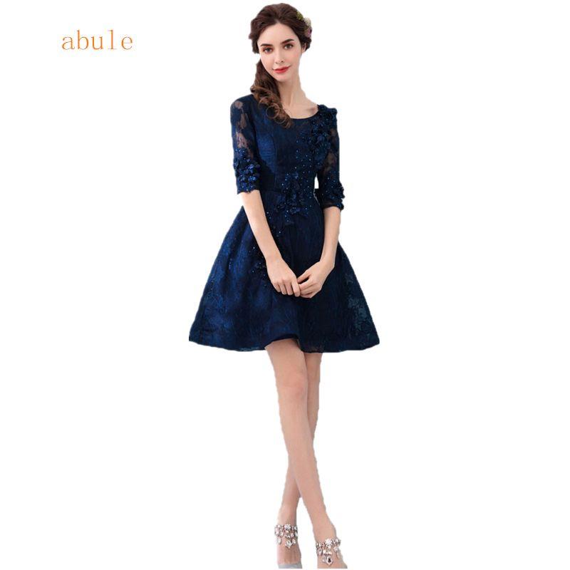 Vestidos azul noche cortos