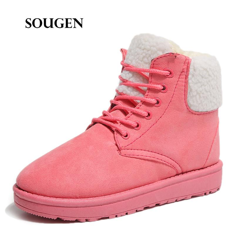 Winter Outdoor Women Snow Boots With Fur Pointe Womens Bot Krasovki Tenis  Feminino Casual Ladies Shoes Flamingo Quality Plush Chukka Boots Men  Slipper Boots ... afd7c77673a1