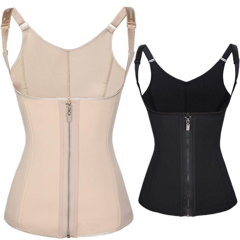 61d24d18877 2019 Waist Trainer Neoprene Waist Trainer Body Shaper Slimming Women Body  Vest Corset Shapewear Weight Loss Waist Shaper Plus Size From Eryuehua