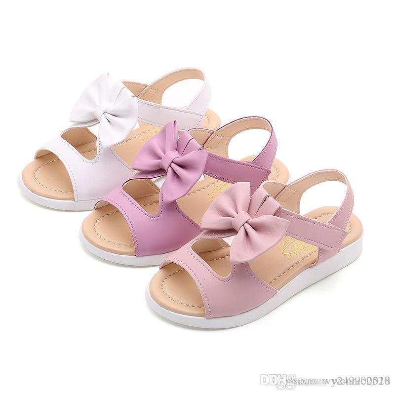 08bb8d34b8fc Summer Style Children Sandals Girls Princess Beautiful Flower Shoes Kids  Flat Sandals Baby Girls Beach Sandals Childrens White Shoes Kids Shos From  ...
