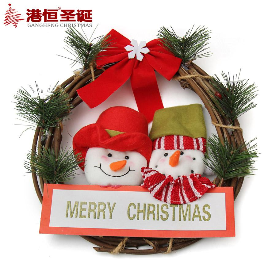 Cute Cartoon Xmas Wreath Pendant 11 81 30cm Christmas Decoration