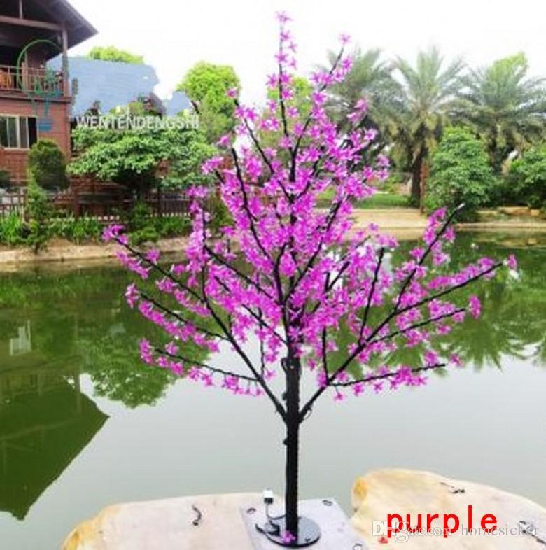 1.5M 5.5ft Hauteur LED Artificielle Cerisier Blossom Arbres Lumière de Noël 480/LED Ampoules 110 / 220V Rainproof fée jardin décor