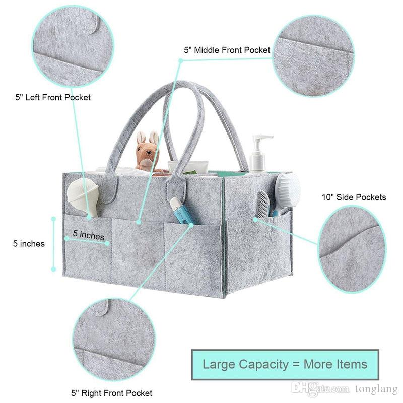 Foldable Baby Diaper Caddy Organiser Portable Storage Bag/box for Car Travel Changing Table Organizerer,Gift Kid Toys