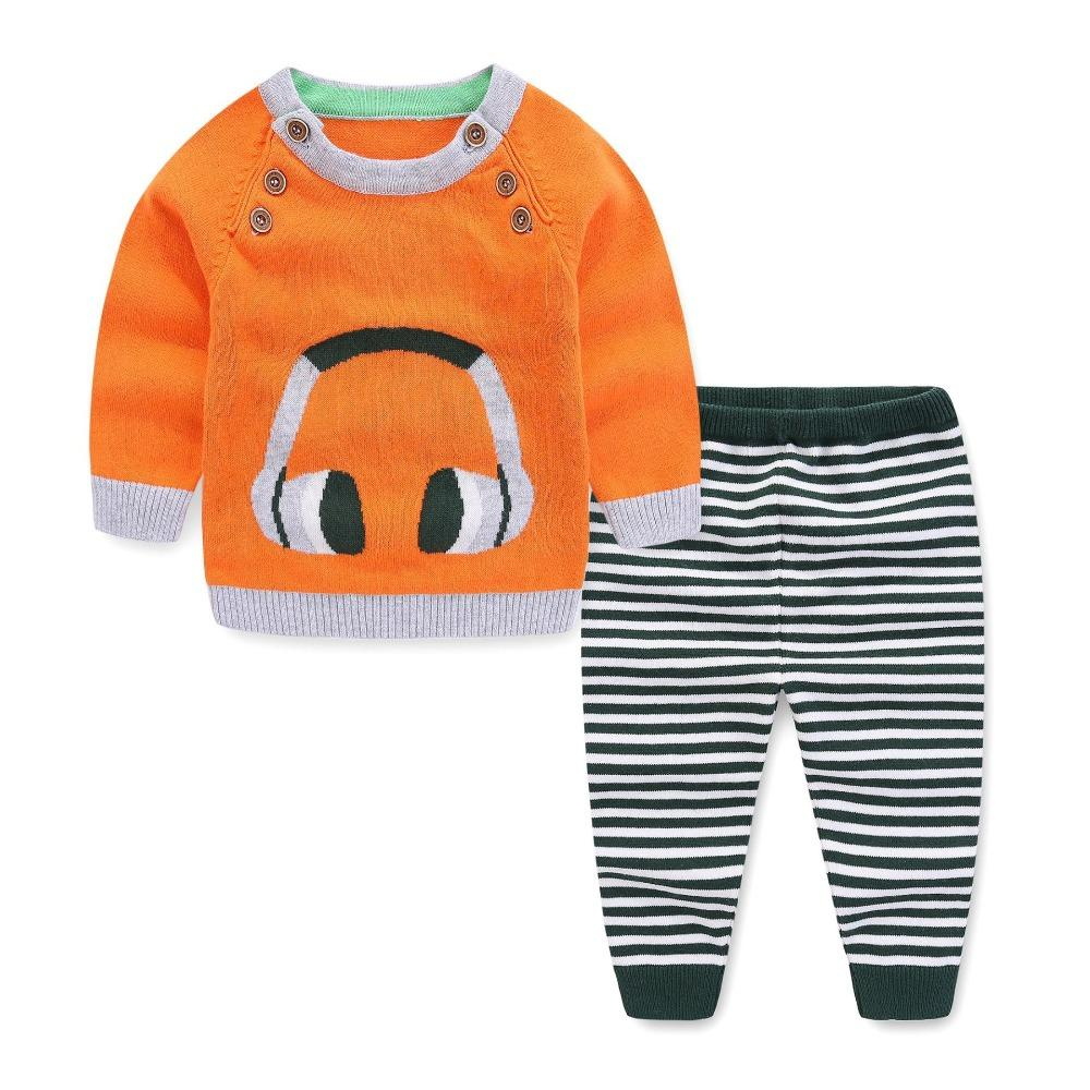 298fa8a25d3 2019 Toddler Spring Autumn Cardigan Clothing Set Newborn Baby Sweater Set For  Baby Girls Infant Sweatshirts+Pants Knitting From Cover3085