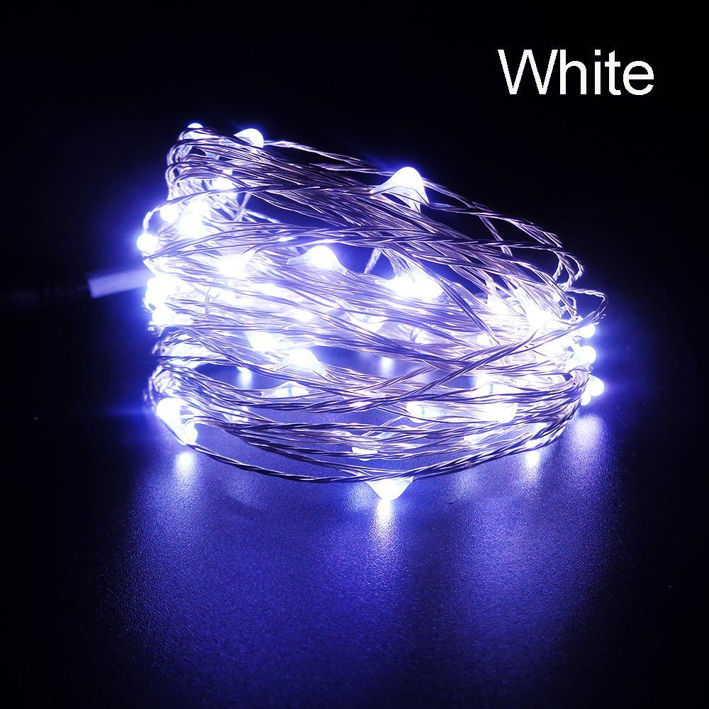 Led String light 10M 100leds fil de cuivre de haute qualité DC12V festival nouvelle décoration de fête de Noël en plein air rapide bateau IL