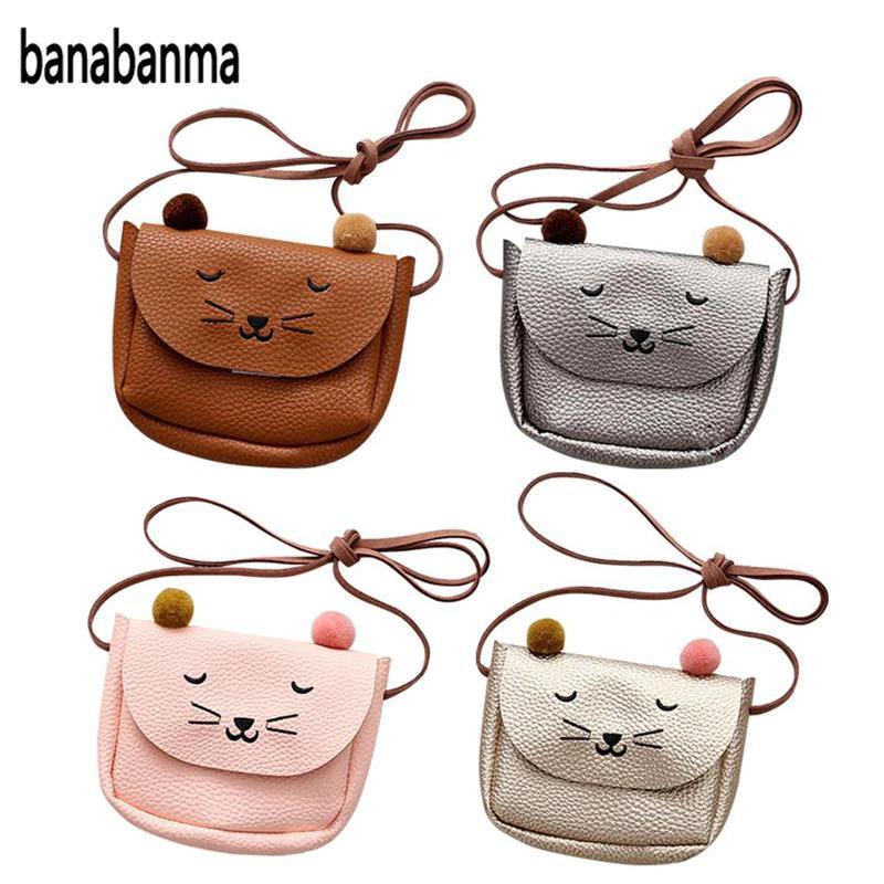 Nette Katze Mädchen Messenger Taschen Kinder Pu Leder Geld Taschen Kinder Mädchen Kleine Mini Handtasche Bolso Mujer Schulter Einkaufen Handtaschen Kinder- & Babytaschen