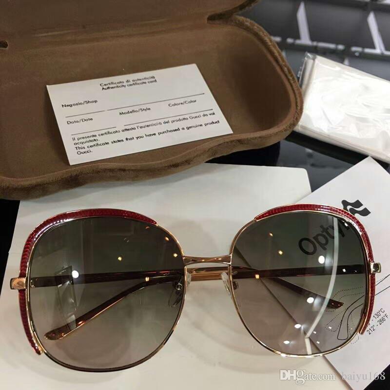 2e74eb589 Compre Mulheres 0400S Vermelho / Cinza Sombreado Óculos De Sol 0400  Sonnenbrille Occhiali Da Sola Designer De Luxo Óculos De Sol Óculos Novo  Com Caixa De ...