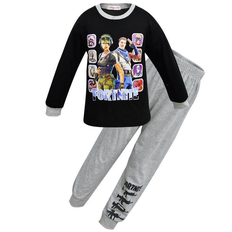 77453915e8 Kids Clothes Boys fortnight Pijamas Battle Victory Royale Pyjamas Big Boys  Christmas Pajamas Clothing Girls Homewear Sets Sleepwear