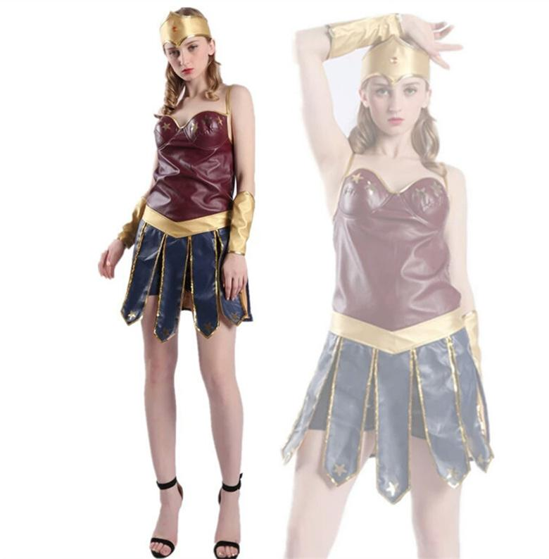 2018 Wonder Woman Cosplay Adult Costumes Justice League Super Hero Costume Christmas Halloween Sexy Women Fancy Dress Cosplay