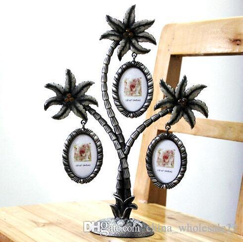 Factory Direct Coconut Tree Photo Frame Wall Hanging Picture For 3