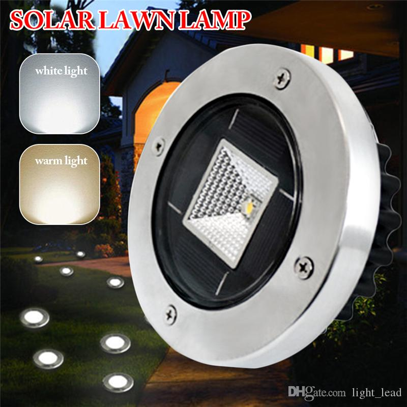 Stainless Steel Solar Lawn Light IP55 Waterproof LED Lawn Lamp Outdoor Garden Lamp Wedding Party Christmas Lawn Lamps