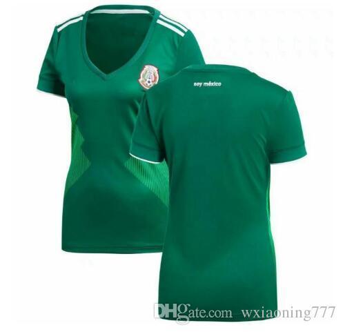 ad17b696bf5 2018 World Cup Woman Mexico Soccer Jersey Mexico Home 8 H.LOZANO 10 ...